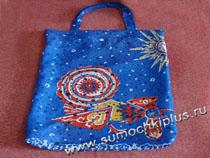 Если интересно, то вот сумка того же...  А авоськи-сетки тогда встречались гораздо реже, болоньевые-то удобнее и...